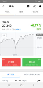 Charting in der App
