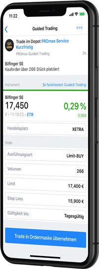 Guided Trading in der App